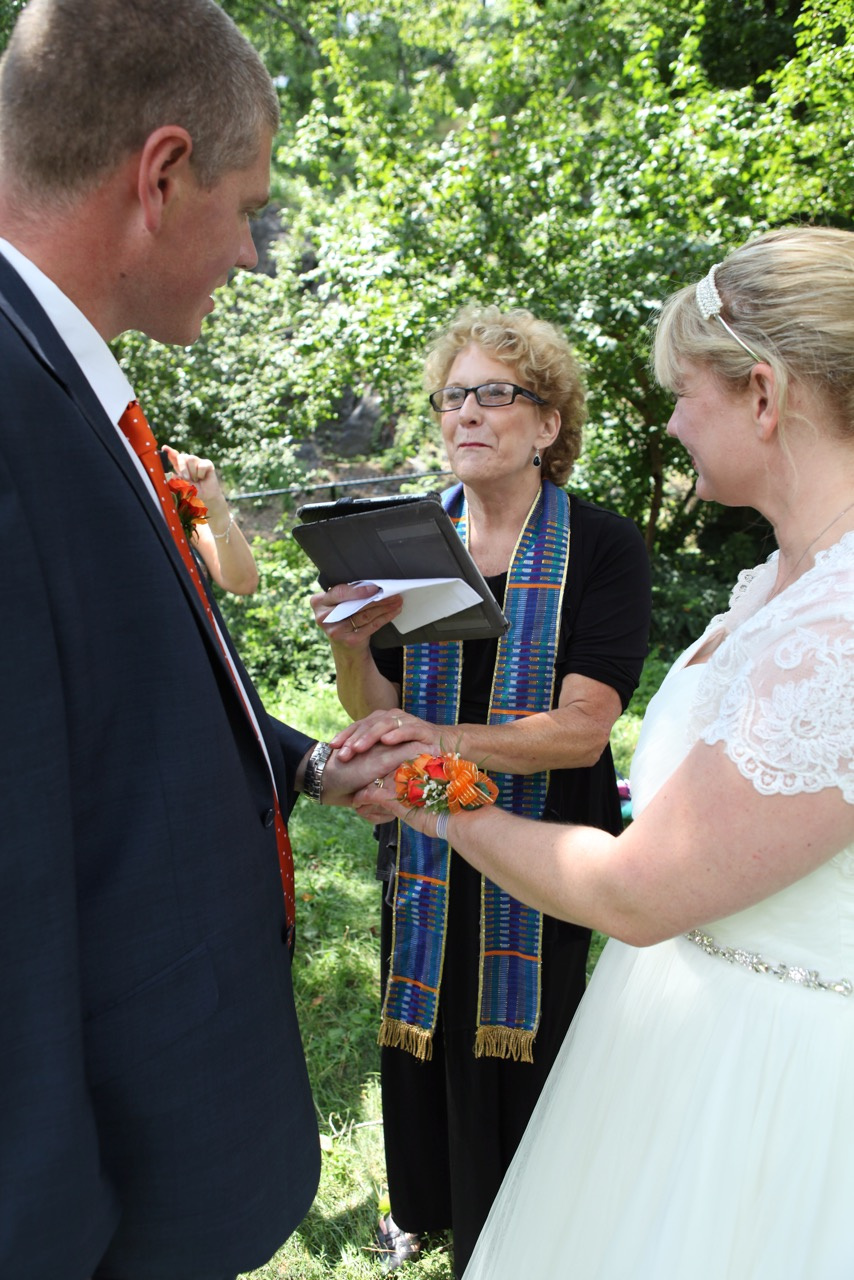 Destination NY from England Vow Renewal Ceremony